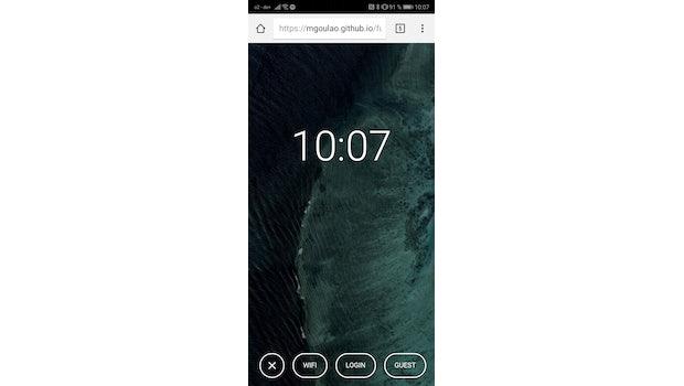 Fuchsia OS Webdemo auf dem Smartphone. (Screenshot: t3n.de)