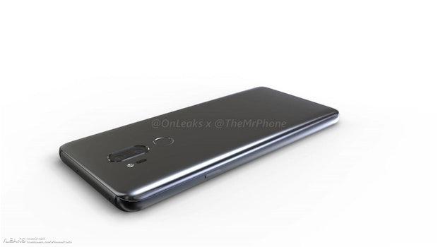 Renderbild: LG G7 Thinq. (Bild: Onleaks)