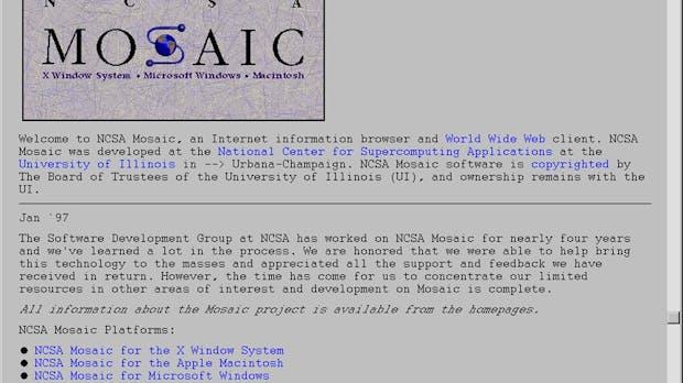 Mosaic Browser: Die Revolution des Internets begann vor 25 Jahren