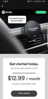 Spotify-Nutzer erhielten Werbeanzeigen, die das mögliche Hardware-Device von Spotify zeigen. (Bild: Flexin Fiesta / Reddit)