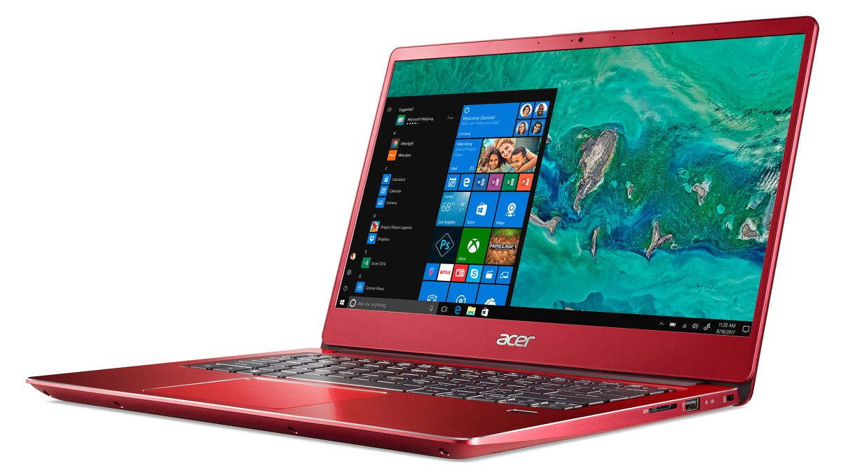 Acer: Das Swift 3 in der 14-Zoll-Variante in Rot. (Foto: Acer)