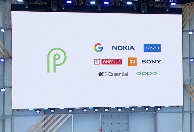 Alle Hardware-Partner für die Android-P-Beta. (Screenshot: Google)