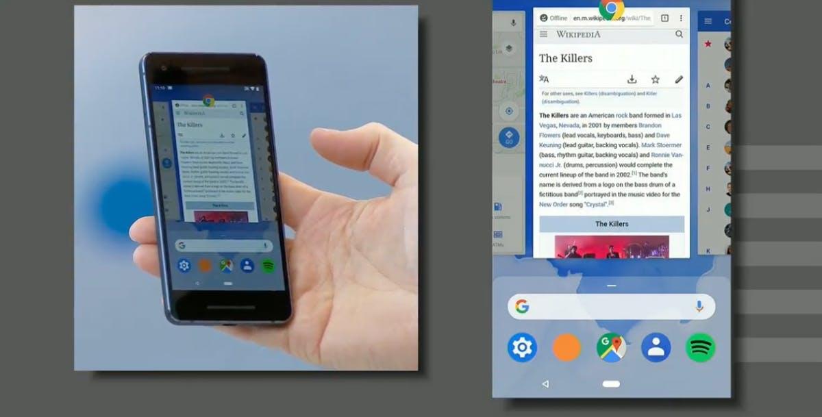 Die neue Beta von Android P hat eine Gestensteuerung an Bord. (Screenshot: Google)