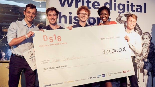 Digital Shapers: Team BMG/Bertelsmann gewinnt Finale mit Idee für Konzert-App