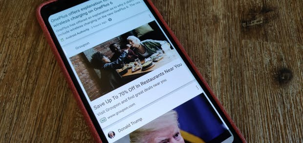 Google testet Werbung im News-Feed auf Android-Smartphones