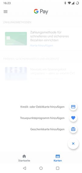 Ein Blick in die Google-Pay-App. (Screenshot: t3n.de)