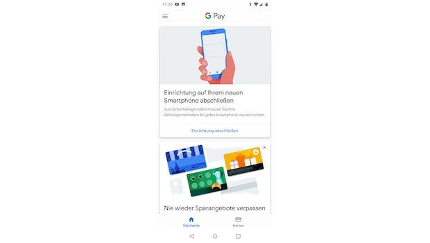 Die Startseite: Ein Blick in die Google App.  (Screenshot: t3n.de)