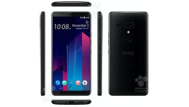 Das HTC U12 Plus von allen Seiten. (Bild: Roland Quandt; HTC)