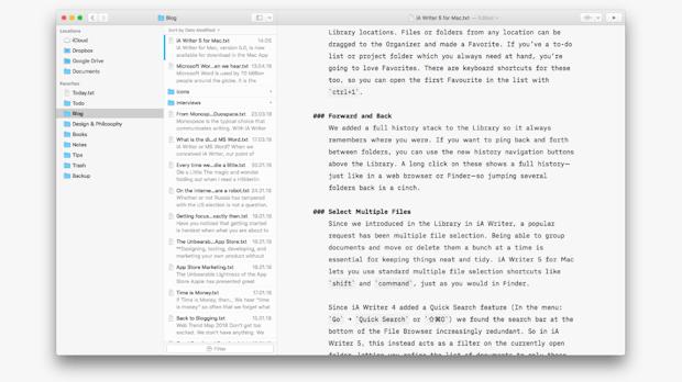 iA Writer 5: Neue Mac-Version der Schreibsoftware bringt erneuerte Bibliothek