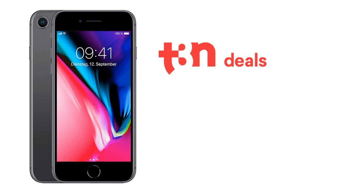 t3n-Exklusiv-Deal: iPhone 8 mit Allnet- und Internet-Flat 120 Euro günstiger
