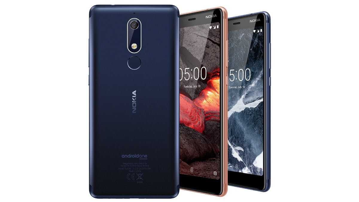 Nokia 5.1 in allen Farben. (Bild: HMD Global)