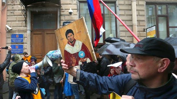 Telegram: Russen demonstrieren gegen Messenger-Blockade