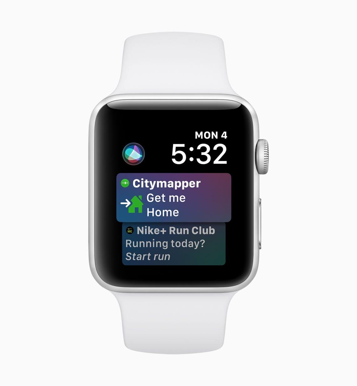Ein Blick auf die neuen watchOS-5-Funktionen. (Bild: Apple)