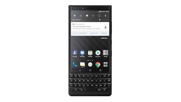 Ein Blick auf die Nutzeroberfläche des Blackberry Key 2. (Bild: Blackberry)