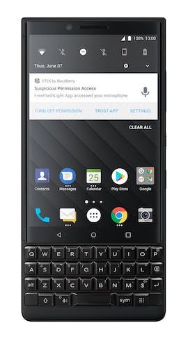 Ein Blick auf die Nutzeroberfläche des Blackberry Key2. (Bild: Blackberry)