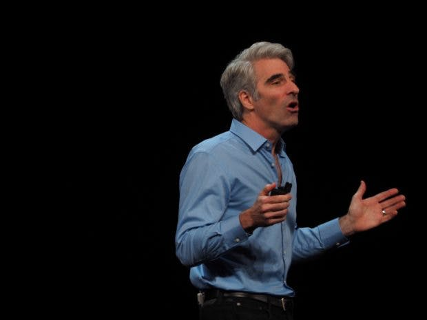 Craig Federighi auf der WWDC 2018