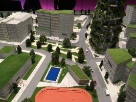 Vision in Grün: VW-Modell der Stadt der Zukunft in der Autostadt (Bild: Ekki Kern)