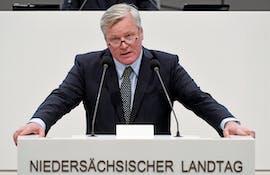 Bernd Althusmann (CDU), niedersächsischer Minister für Wirtschaft, Arbeit, Verkehr und Digitalisierung spricht am 13. Juni auf der Cebit. (Foto: dpa)