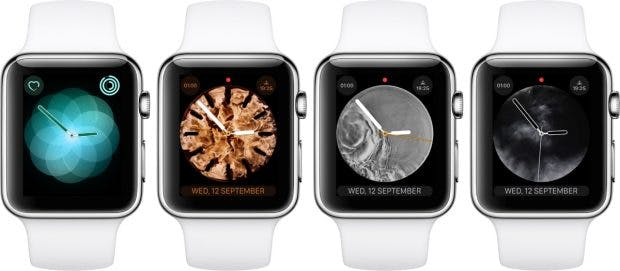 Neue Watchfaces für die Apple Watch Series 4. (Bild: Apple)