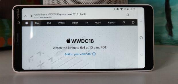 Nicht nur per Safari- oder Edge-Browser: Sogar über ein Android-Smartphone mit Chrome oder Firefox könnt ihr euch Apples WWDC-2018-Keynote am Montag ansehen. (Foto: t3n.de)