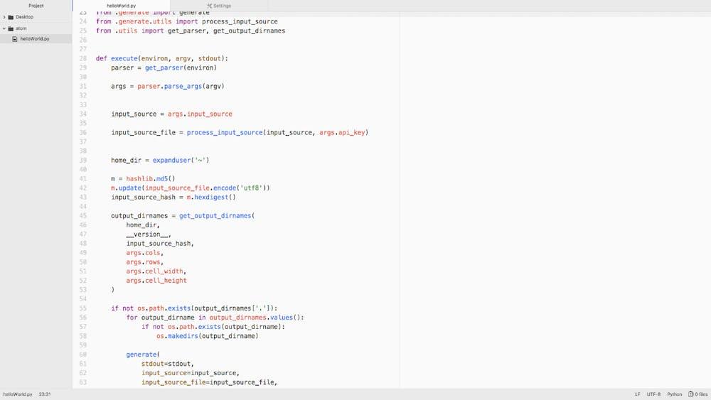 """Bei Atom lässt sich mit der üblichen Tastenkombination """"CMD"""" und """"+"""" bzw. """"Ctrl"""" und """"+"""" die Schrift und nur die Schrift vergrößern. (Screenshot: t3n.de)"""