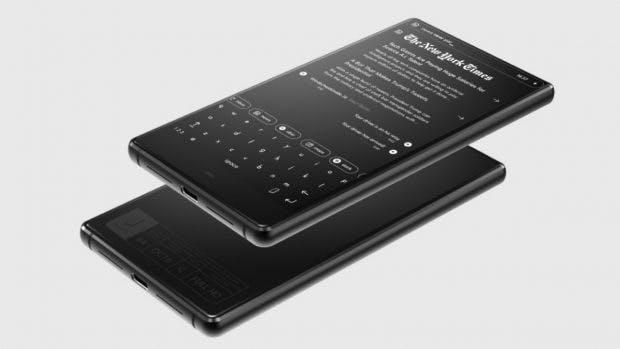 Schwarz-Weiß-UI und minimalitsisch: Durch diese Eigenschaften soll sich das Blloc-Smartphone unter anderem auszeichnen. (Bild: Blloc)