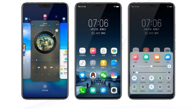 Das Vivo Nex wirkt in Sachen Hardware-Design spannend – die iOS-nahe Nutzeroberfläche dürfte viele enttäuschen. (Screenshot: Vivo)