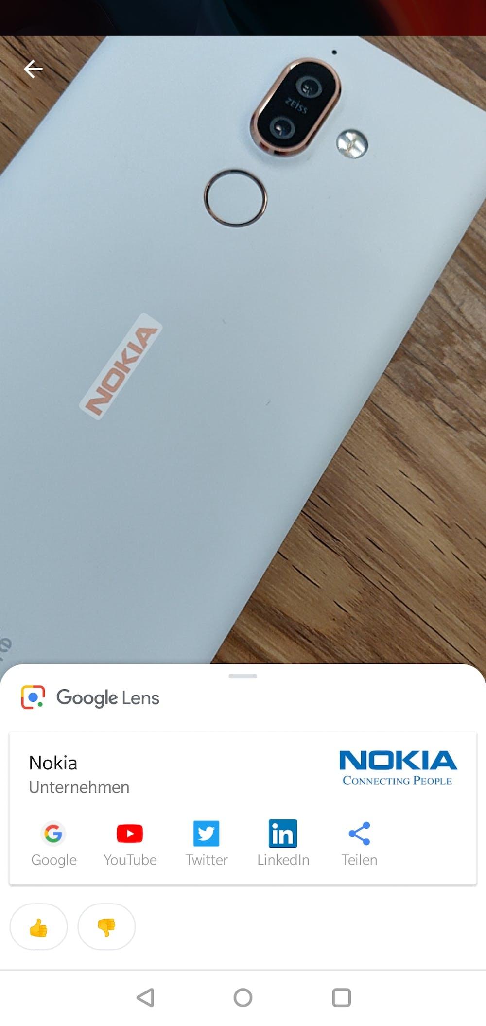 Hersteller und Marken erkennt Google Lens auch. (Screenshot: t3n.de)