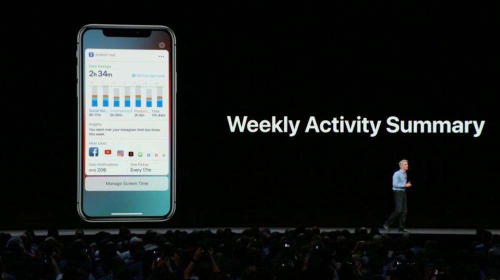 iOS 12: So sieht die Screentime-Wochenübersicht aus. (Screenshot. t3n.de)