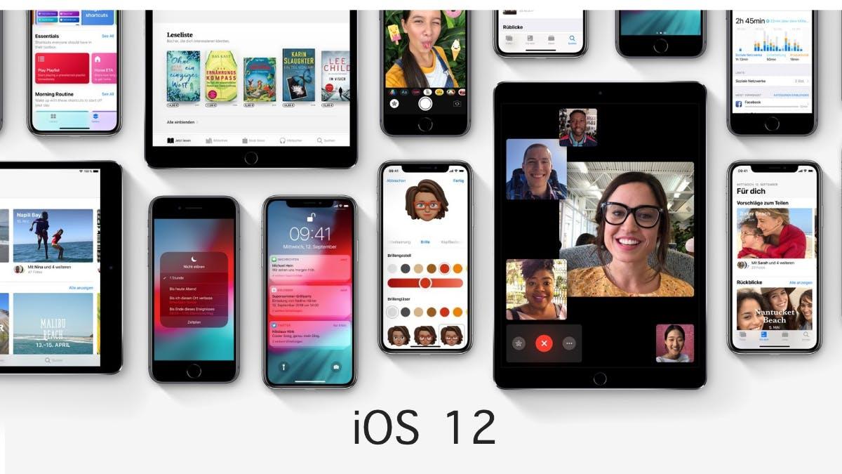 iOS 12 ist da: Das bringt das neue Update auf eure iPhones und iPads