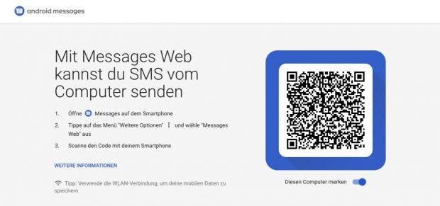 Derzeit bekommt ihr auf der entsprechenden Messages-Web-Site nivht mehr als den Login-Screen zu sehen. (Screenshot: t3n.de)