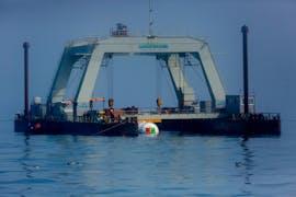 Das Unterwasser-Rechenzentrum von Microsoft. (Foto: Microsoft)