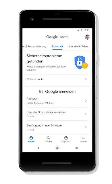 Neues Google-Konto: Sicherheitsprobleme