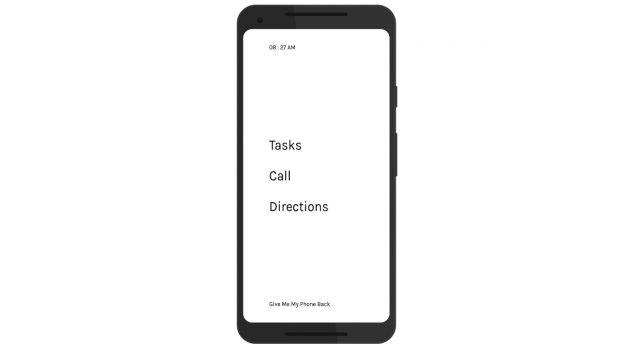 Nophone: Ein Android-Launcher für Menschen, die eigentlich keine Apps nutzen wollen. (Grafik: Aswin Mohan)