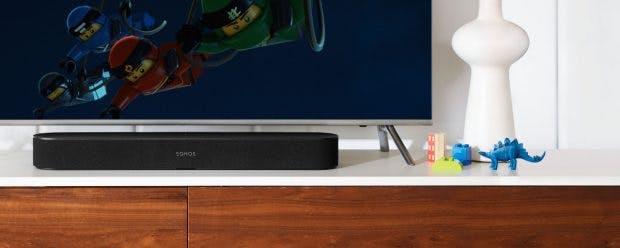 Sonos Beam in Schwarz. (Foto: Sonos)