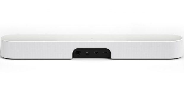 Sonos Beam von hinten mit allen Anschlüssen. (Foto: Sonos)