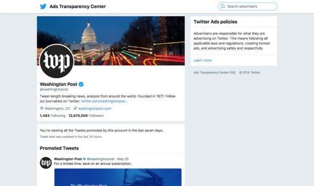 Auch Twitter will für mehr Transparenz sorgen. (Screenshot: ads.twitter.com)