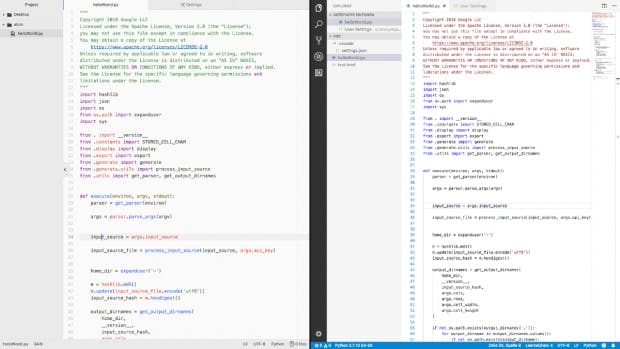Beide Code-Editoren in einem hellen Design. Links Atom, rechts VS-Code. (Screenshot: t3n.de)
