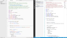 Beide Texteditoren in einem hellen Design. Links Atom, rechts VS Code. (Screenshot: t3n.de)