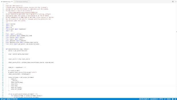 Auch VS Code kann aufgeräumt sein: hier mit ausgeblendeten Seitenleisten. (Screenshot: t3n.de)