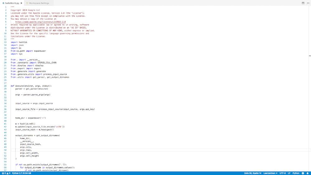 Auch VS-Code kann aufgeräumt sein: hier mit ausgeblendeten Seitenleisten. (Screenshot: t3n.de)