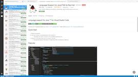 Der Package-Manager bei VS-Code lässt sich direkt über einen Menüpunkt der Seitenleiste erreichen. Hier wird wieder versucht, möglichst viel auf eine Seite zu kriegen. Die Liste der Erweiterungen wird inklusive der Details angezeigt. (Screenshot: t3n.de)