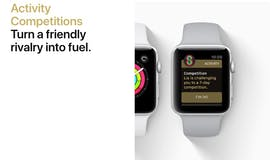 Neu in watchOS 5: Künftig könnt ihr euch mit euren Freunden bei euren Trainingseinheiten messen. (Screenshot: Apple)