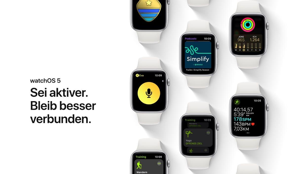watchOS 5 ist da: Das sind die neuen Funktionen