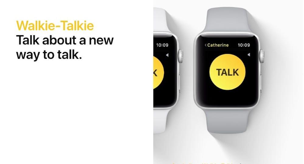 watchOS 5 macht aus eurer Apple Watch ein Walkie-Talkie. (Screenshot: Apple)