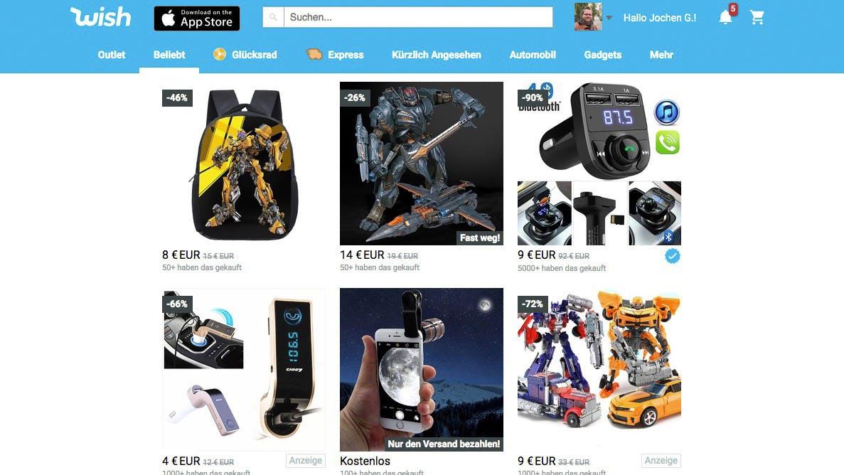 Wish, die Milliarden-Schrottschleuder: Hintergründe für Kunden und Händler