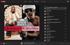 Der Youtube-Music-Web-Player erinnert ein wenig an Spotify. (Screenshot: t3n.de)