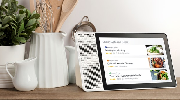 google assistant lenovo bringt seine smart display ger te. Black Bedroom Furniture Sets. Home Design Ideas