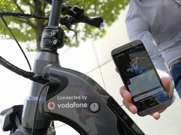 Vernetzte E-Bikes: Vodafone stattet Räder mit intelligentem Diebstahlsschutz aus