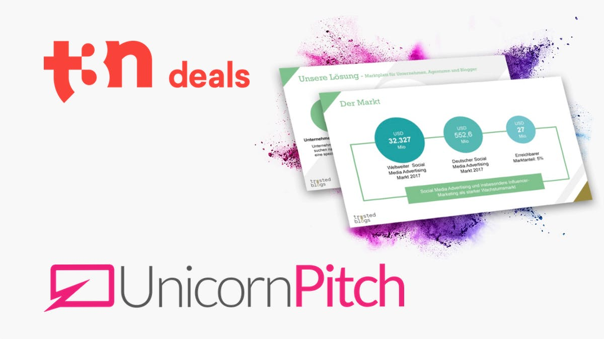 t3n Deals: t3n-Rabatt auf dein perfektes Pitch-Deck von UnicornPitch